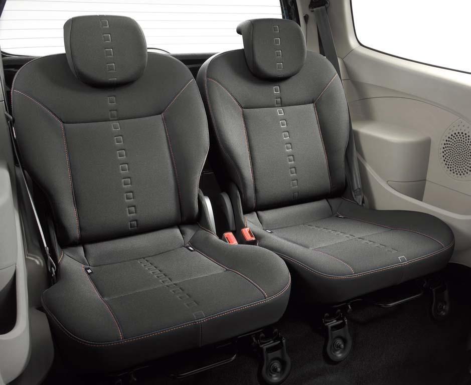 asientos traseros del Renault Twingo