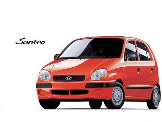 Hyundai Santro rojo
