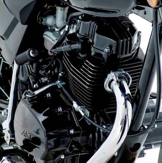 Akt 125 nkd motor detalle