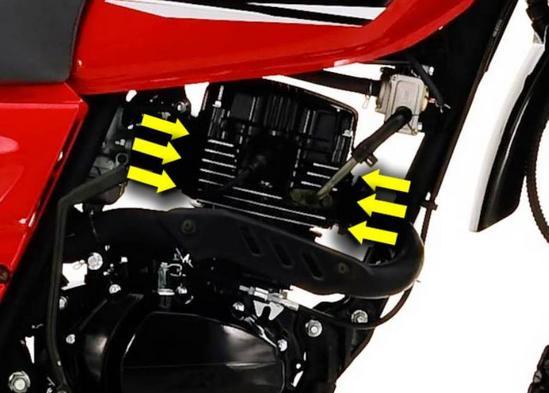 AKT 150 TT motor 2