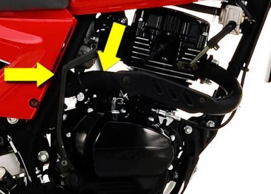AKT 150 TT arranque electrico por pedal