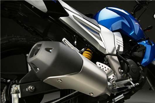 Yamaha FZ 16 exosto