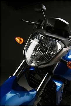 Yamaha FZ 16 faro azul