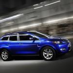Mazda CX-7 lateral azul