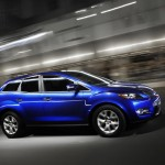 Mazda CX-7 lateral azul