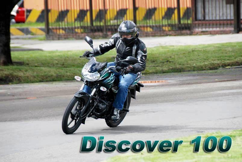 Auteco Bajaj Discover 100 publicidad