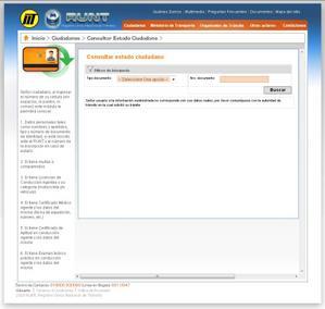 RUNT Consultas por cédula estado ciudadano Colombia