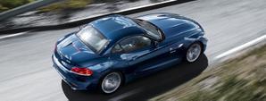 BMW Z4 en marcha azul