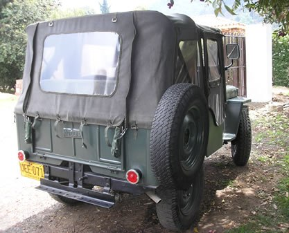 jeep willys trasera