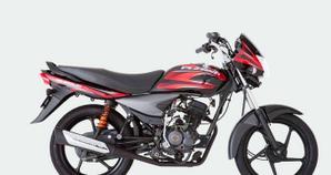 Bajaj Platino 125 Negro Rojo