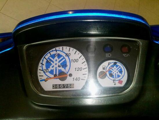 Yamaha BWS 100 panel de instrumentos