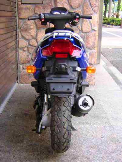 Yamaha BWS 100 Vista Trasera