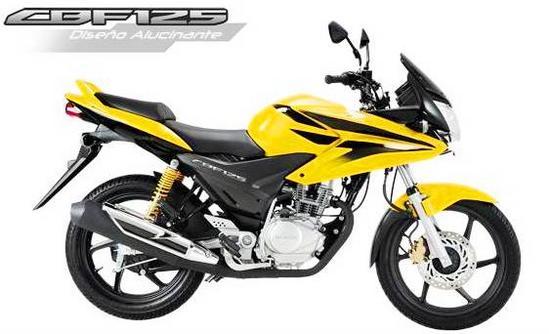 Honda CBF 125 amarillo