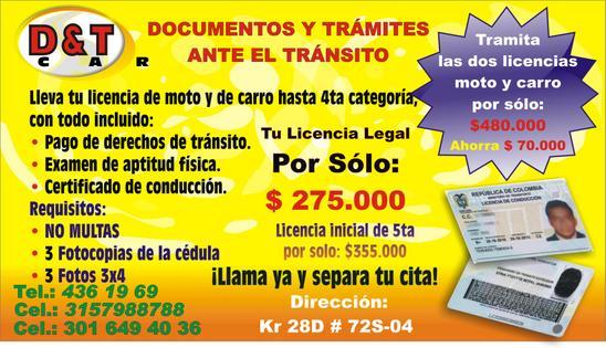 Licencias de conducción Colombia