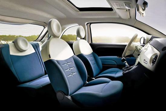 FIAT 500 asientos delanteros