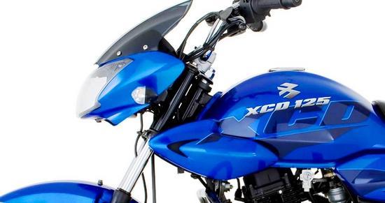 Bajaj XCD 125 Perfil azul
