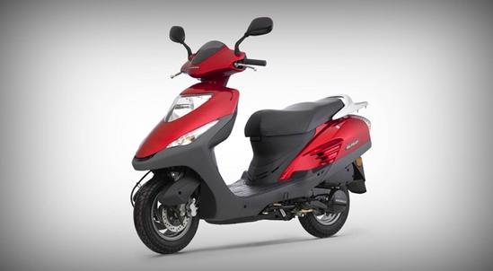 Honda Elite 125 rojo