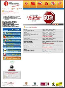 Vista de www.serviciosdetransito.com | Página de Inicio Cali