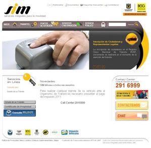 Vista de www.simbogota.com.co | Página Inicial