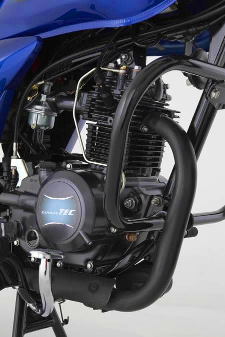 Auteco Platino 100 motor detalle