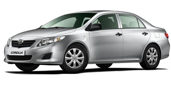 Toyota Corolla vista lateral izquierda