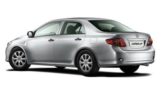 Toyota Corolla vista trasera