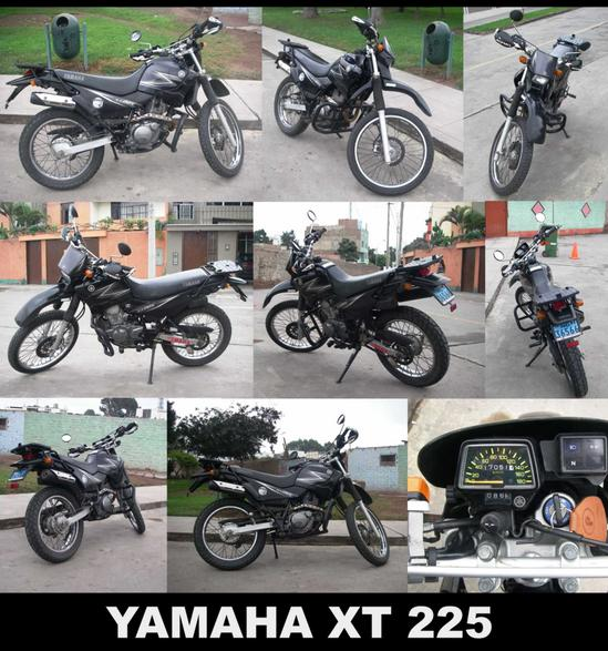 Yamaha XT 225 collage