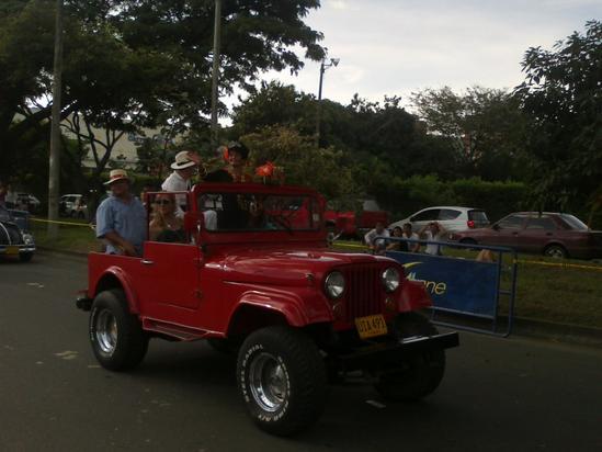 feria de cali 2010, desfile del Jeep