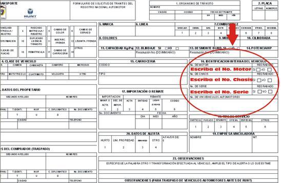 diligenciar formulario traspaso
