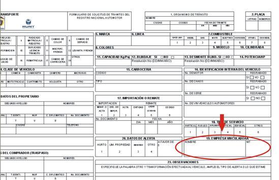 Diligenciar formulario de traspasos