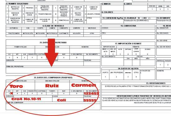 diligenciar formulario unico nacional de transito y transporte