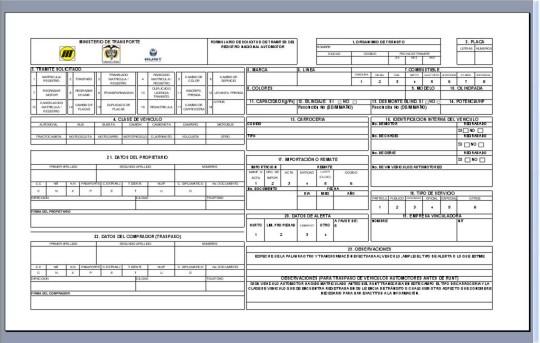 Descarga de formulario unico nacional de transito o fun runt