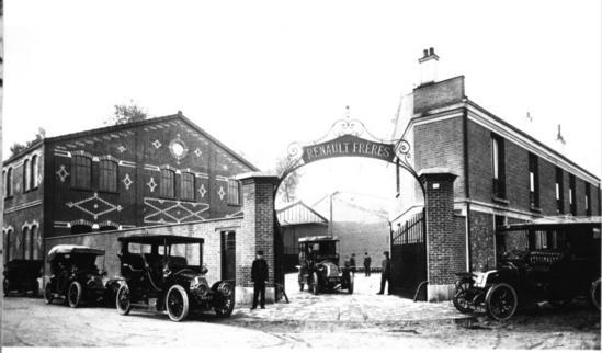 Fabrica Renault a principios del siglo 20