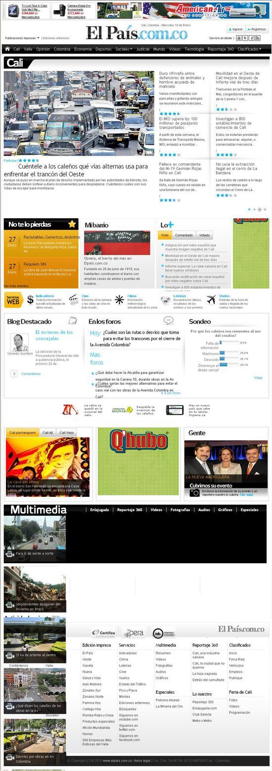 Periodico El Pais Cali www.elpais.com.co
