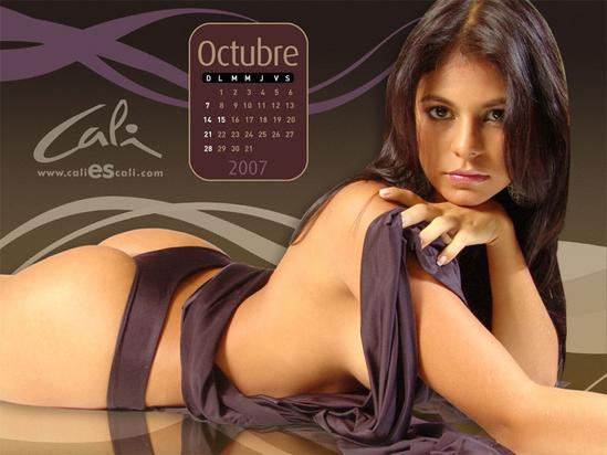 calendario caleñas 2007 de caliescali.com