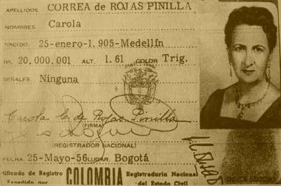 las primeras cedulas que expidio la registraduria a las mujeres de colombia