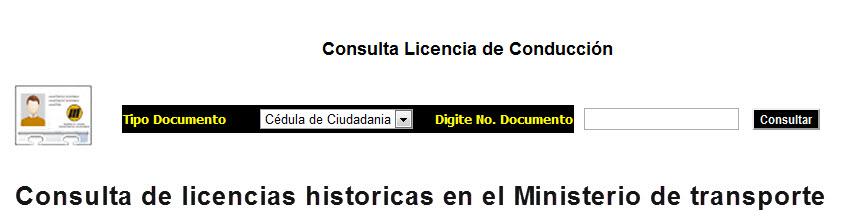 consultar licencia de conducción históricos en colombia