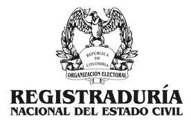 logo de la registraduria nacional