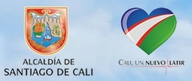 imagen de los logos de la registraduria y la alcaldia de santiago de cali