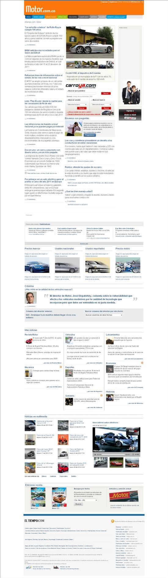 precios revista motor web motor.com.co