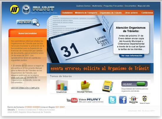 Runt Colombia www.runt.com.co