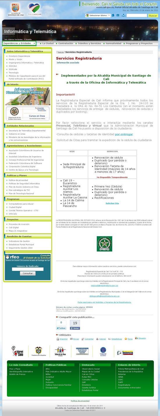 Solicitud de citas para cédula en la Registraduría Nacional de Santiago de Cali - Imagen