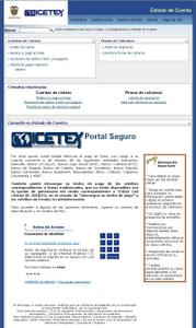 Captura de pantalla del ICETEX consulta estado de cuenta