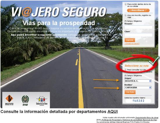 Sitio de consulta para viajar seguro