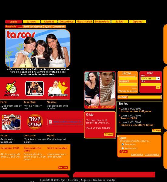 www.caliescali.com - Poratl Enero de 2005