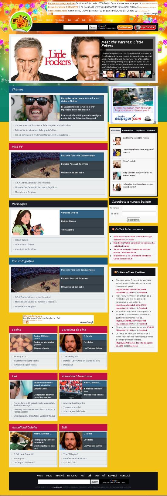 www.caliescali.com - caleñas web caliescali com