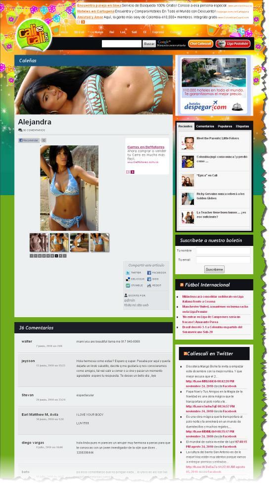 Sección Caleñas de CaliesCali.com Enero de 2011