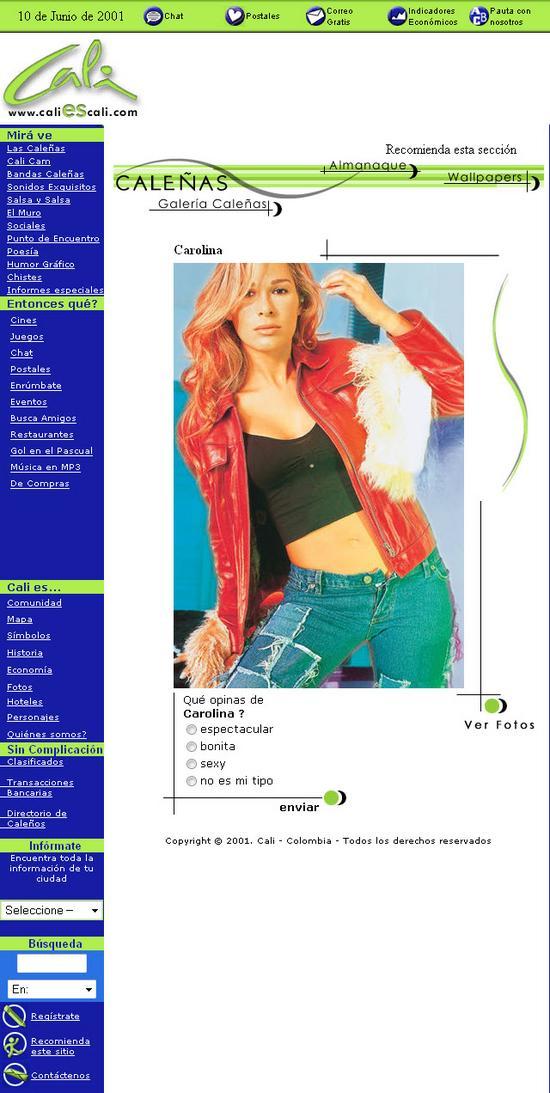 www.caliescali.com Sección Caleñas Junio 2001