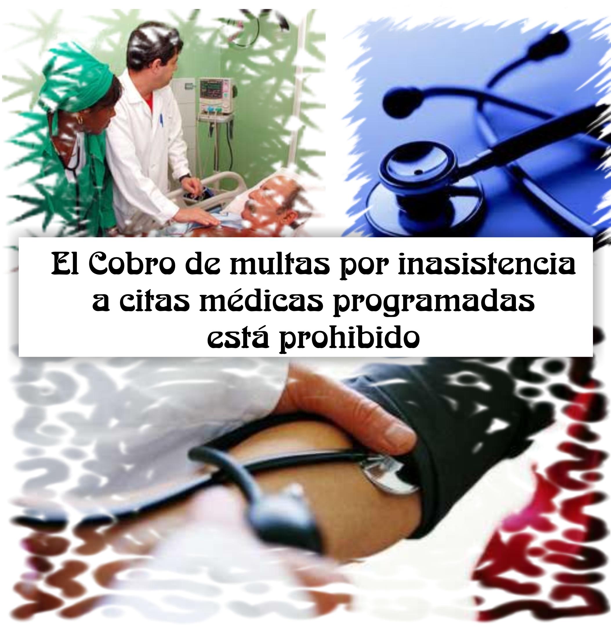Salud: El Cobro de multas por inasistencia a citas médicas programadas está prohibido