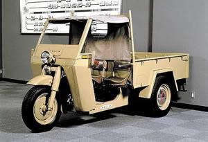 El pequeño vehiculo de carga